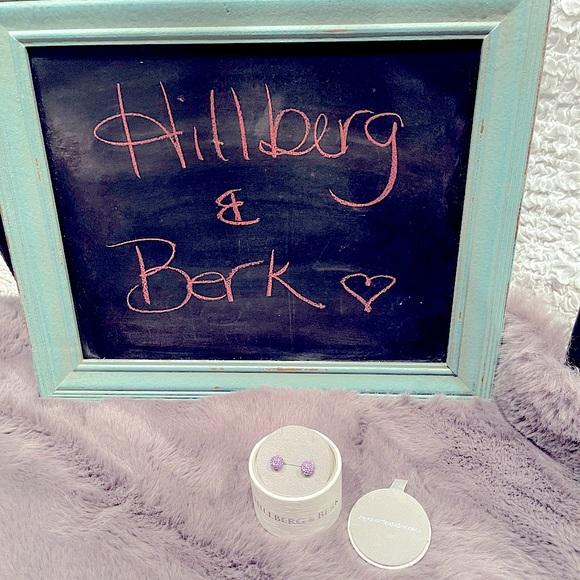 BNIB Hillberg &Berk 10mm Lavender Ball Earrings.